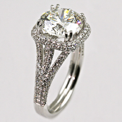 18kt Diamond Engagement Ring