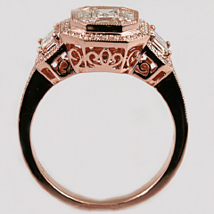 18kt Rose Gold Diamond Mosaic Ring
