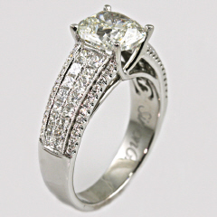 18kt Simon G Engagement Ring