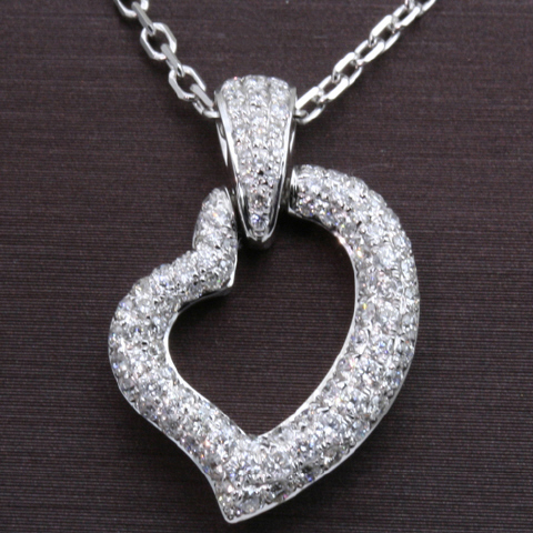 14kt Diamond  Pave Heart