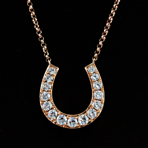 18kt Diamond Horseshoe Pendant