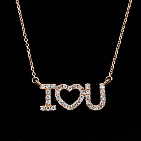 "18kt ""I LOVE YOU"" Pendant"