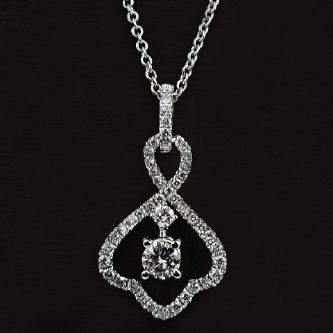 18kt Diamond Pendant (.25ct center)