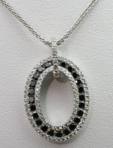 18kt White Gold and Black Diamond Pendant