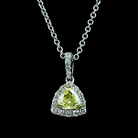 18kt Yellow Diamond Pendant