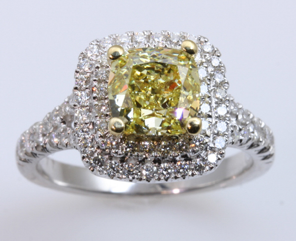 18kt Double Halo Engagement Ring