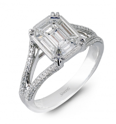 18kt Engagement Ring by Simon G