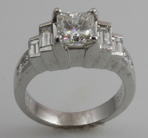 18kt Engagement Ring by C. Gonshor