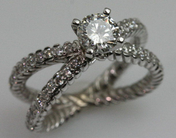 14kt Braided Engagement Ring